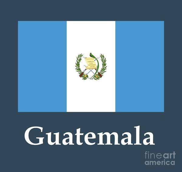 Guatemala Flag Digital Art - Guatemala Flag And Name by Frederick Holiday
