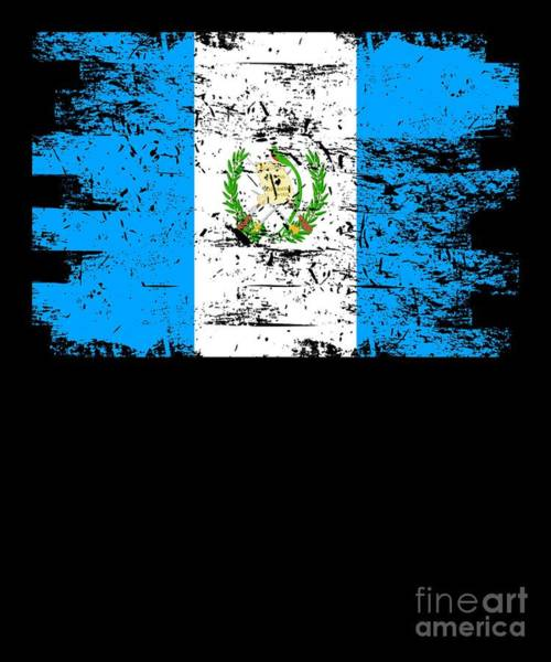 Guatemala Flag Digital Art - Guatemala Flag Gift Country Patriotic Travel Shirt Americas Light by J P