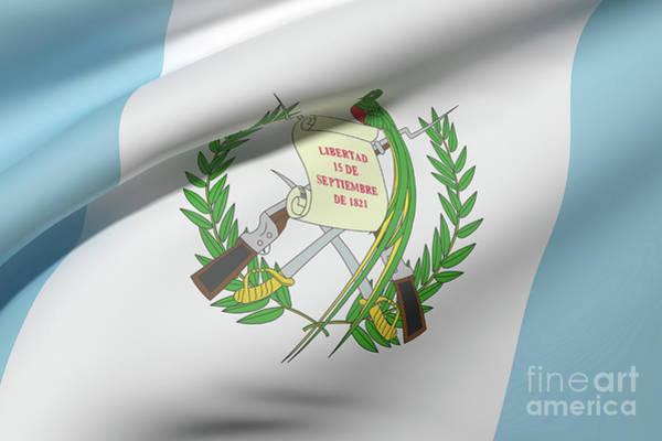 Guatemala Flag Digital Art - Guatemala Flag Waving by Enrique Ramos Lopez