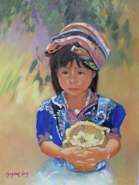 Painting - Guatemalan Girl by Suzanne Cerny