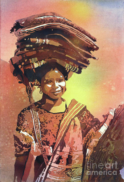 Central America Painting - Guatemalan Woman by Ryan Fox