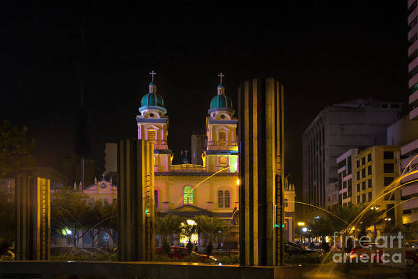 Saint Peters Square Photograph - Guayaquil Metropolitan Cathedral Of Saint Peter by Al Bourassa