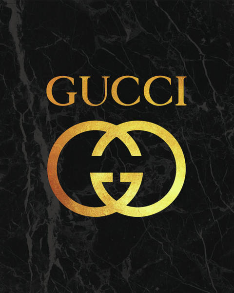 Wall Art - Digital Art - Gucci - Black And Gold - Lifestyle And Fashion by TUSCAN Afternoon
