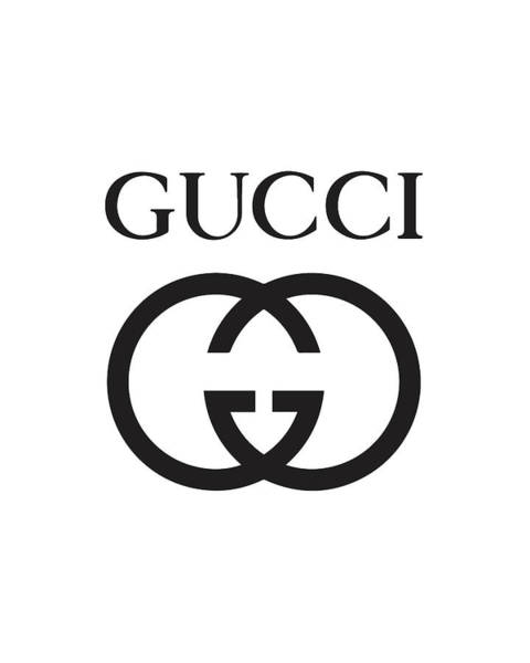 Wall Art - Digital Art - Gucci - Black And White 02 - Lifestyle And Fashion by TUSCAN Afternoon