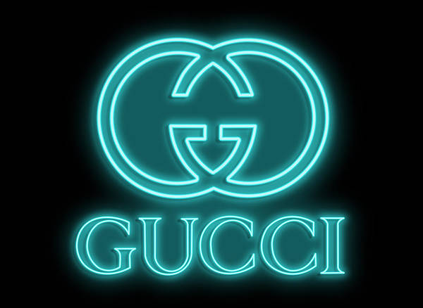 Neon Digital Art - Gucci Neon Sign by Ricky Barnard