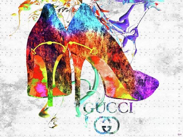 Vogue Mixed Media - Gucci Shoes by Daniel Janda