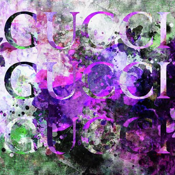 Wall Art - Digital Art - Gucci Watercolor 4 by Del Art