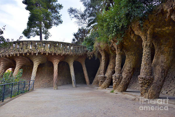 Arch Mixed Media - Guell Style by Svetlana Sewell
