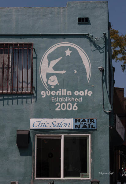 Wall Art - Photograph - Guerilla Cafe And Chic Salon by Suzanne Gaff