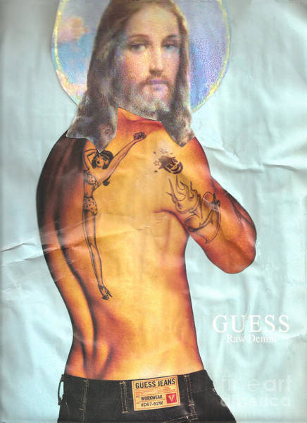 Guess Mixed Media - Guess Jesus by Jaime  Becker