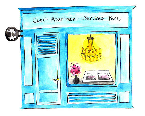 Painting - Guest Apartment Services by Anna Elkins