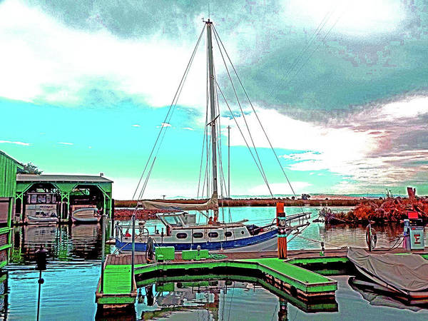 Digital Art - Guest Dock N Gr8 Sky by Joseph Coulombe