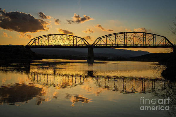 Guffey Bridge At Sunset Idaho Journey Landscape Photography By Kaylyn Franks Art Print