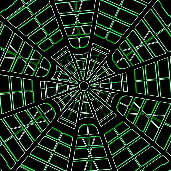 Photograph - Guggenheim Dome - Neon Green by Karen J Shine