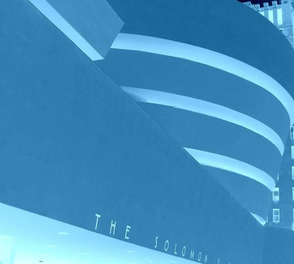 Photograph - Guggenheim In Cool Blue by Karen J Shine