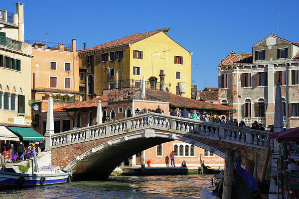 Photograph - Guglie Bridge And Cannaregio Canal In Venice by Matthias Hauser