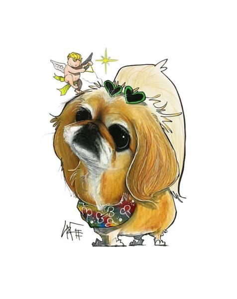 Pet Portrait Drawing - Guida 3205 by John LaFree