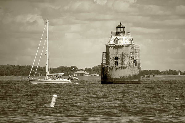 Sandy Point State Park Photograph - Guidance - Sepia by Brian Wallace