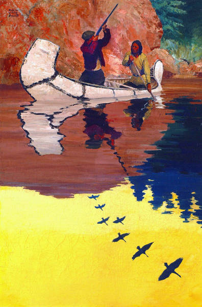 Painting - Guide And Goose Hunter by Robert Wesley Amick