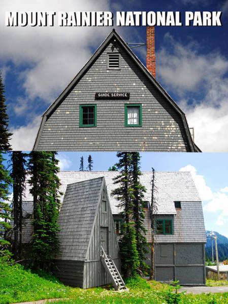 Wall Art - Photograph - Guide Hut Mount Rainier Washington by David Lee Thompson