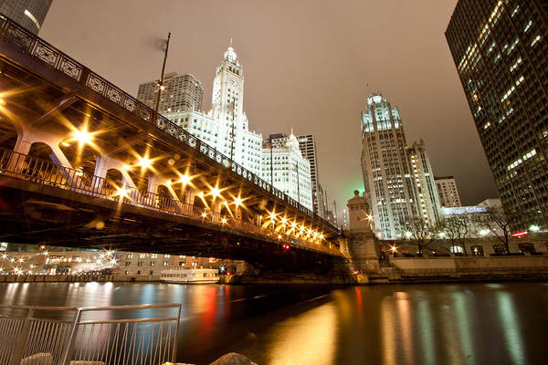 Chicago Tribune Wall Art - Photograph - Guide Me Across The River by Daniel Chen