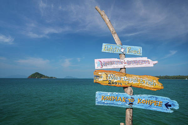 Wall Art - Photograph - Guide Post In Koh Kam Island by Anek Suwannaphoom