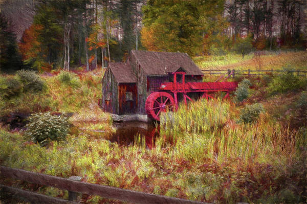 Photograph - Guildhall Grist Mill In Fall by Jeff Folger
