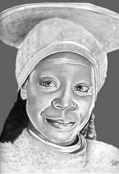 Drawing - Guinan by Bill Richards