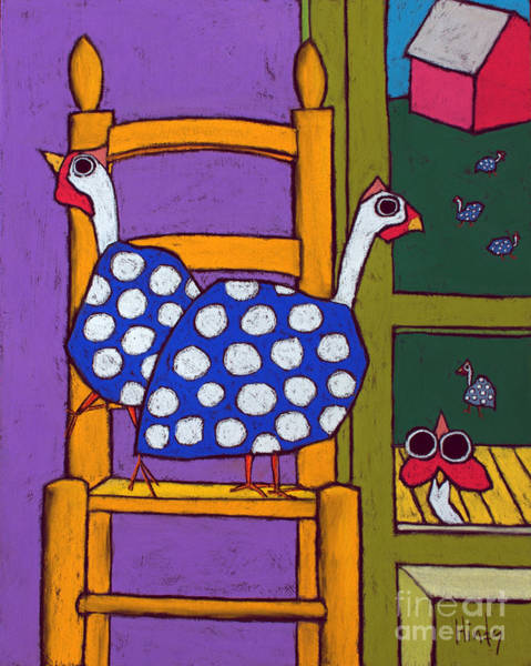 Wall Art - Painting - Guinea In The Chair by David Hinds