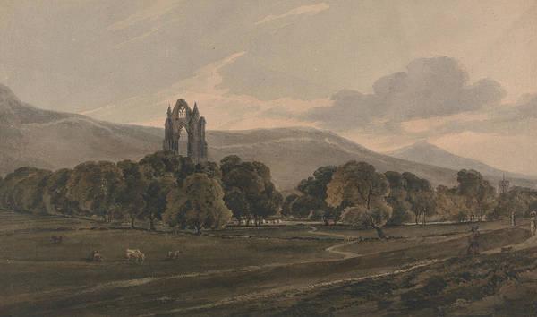 Painting - Guisborough Priory by Thomas Girtin