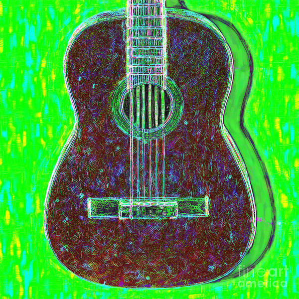 Wall Art - Photograph - Guitar - 20130123v4 by Wingsdomain Art and Photography