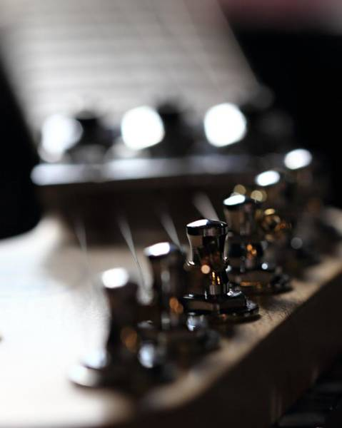 Photograph - Guitar Close Up by Angela Murdock