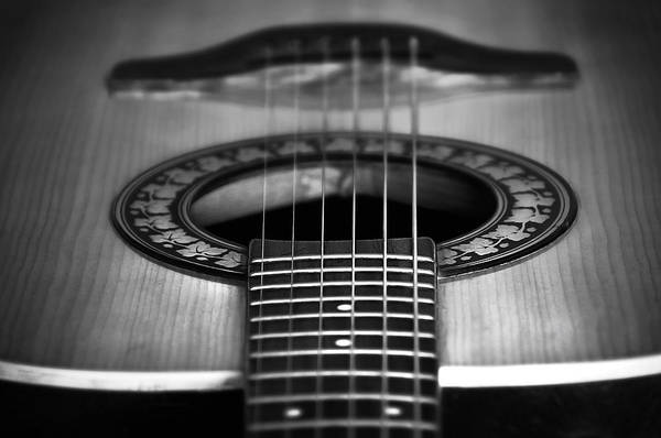 Folk Rock Photograph - Guitar Close Up by Svetlana Sewell