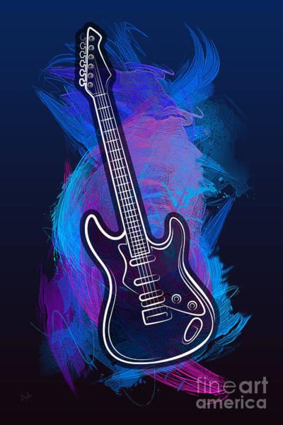 Purple Haze Digital Art - Guitar Craze by Peter Awax