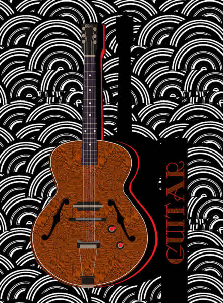 Painting - Guitar Grooves by Cecely Bloom