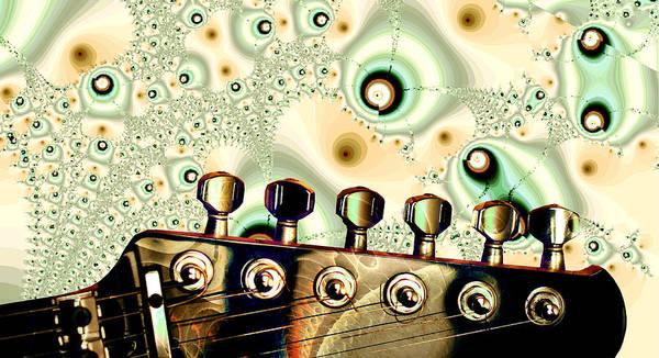 Digital Art - Guitar Head - Fantasy - Musical Instruments by Anastasiya Malakhova