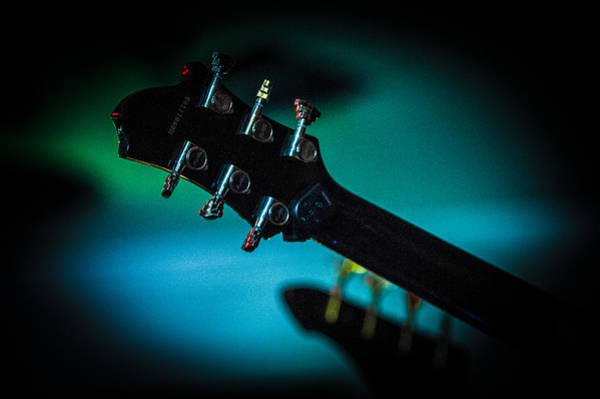 Photograph - Guitar Head by Helen Northcott