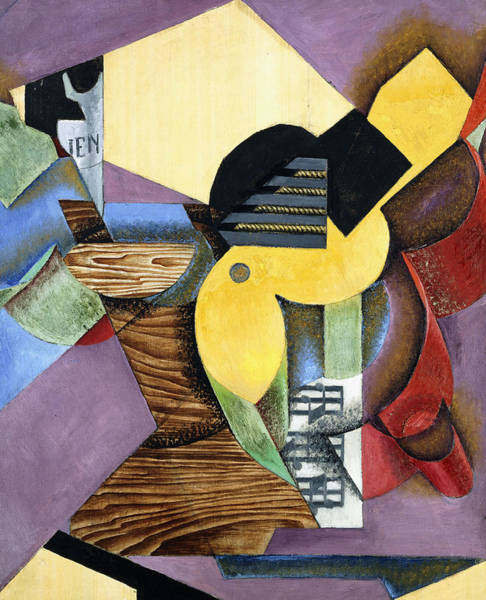 Wall Art - Painting - Guitar by Juan Gris