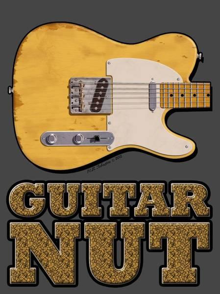 Tele Photograph - Guitar Nut Shirt by WB Johnston