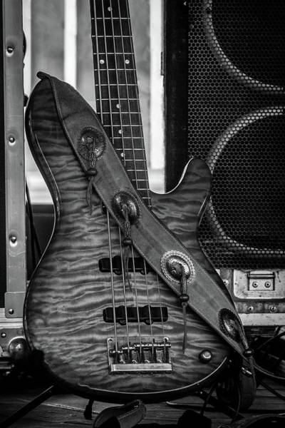 Wall Art - Photograph - Guitar On Stage by Mike Burgquist