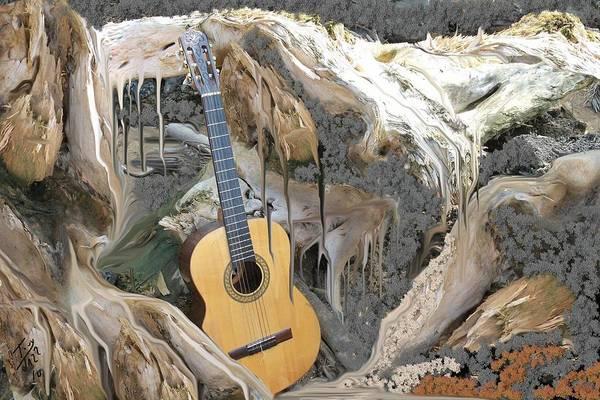Digital Art - Guitar Purgatory by Tony Rodriguez