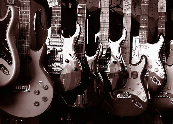 Rock Music Photograph - Guitar Shop by David April