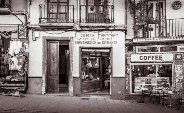 Photograph - Guitar Shop, Granada, Spain by Gary Gillette