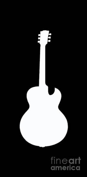 Sweatshirt Wall Art - Digital Art - Guitar Tee by Edward Fielding