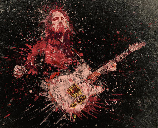Classic Rock Mixed Media - Guitarist by Swan Swimy