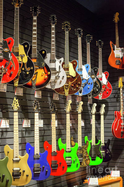 Photograph - Guitars by Jim West