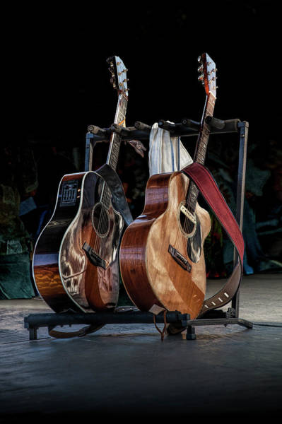 Photograph - Guitars On Stage At An Outdoor Concert by Randall Nyhof