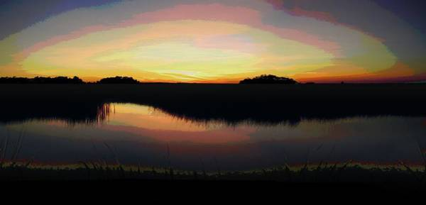 Painting - Gulf Coast Florida Marshes Sunset by G Linsenmayer