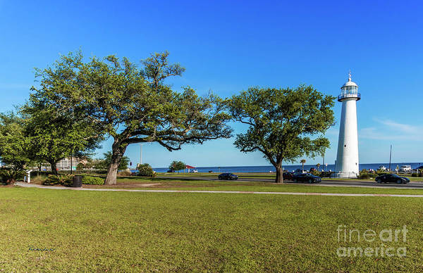 Photograph - Gulf Coast Lighthouse Seascape Biloxi Ms 3663a by Ricardos Creations