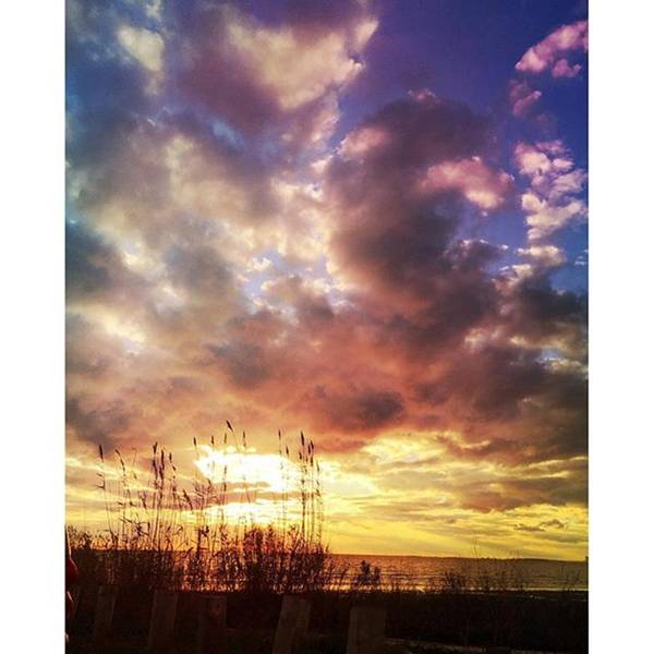 Gulf Coast Sunset #clouds #sunset Art Print